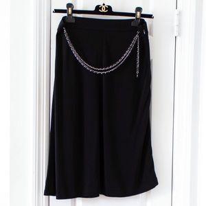 Rare Chanel Vintage Spring 1997 Black Belt Skirt